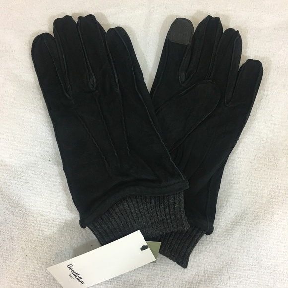 Goodfellow & Co Other - Goodfellow Black Pig Leather and Polyester Gloves